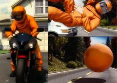Безопасный костюм для мотоциклистов и велосипедистов